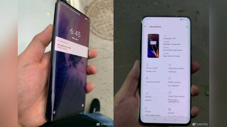 OnePlus 7 Pro turns up on the web with bent display, can be the OnePlus 5G phone
