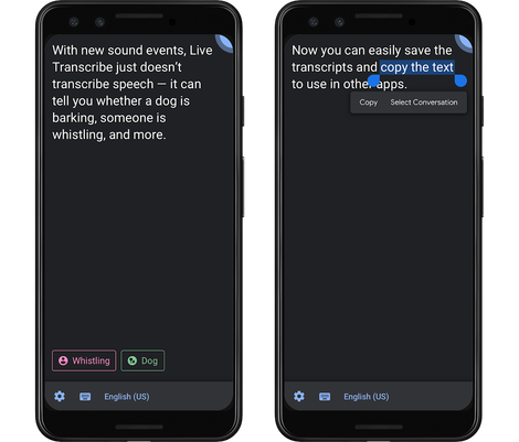 Google's Live Transcribe can now find giggling, slapping and pets barking